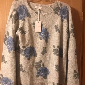 Lucky Brand floral sweater